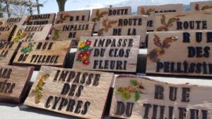 Journée d'inauguration des plaques à St Jean de Vaulx.Les plaques terminés